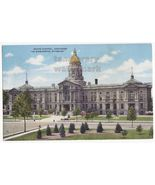 CHEYENNE WYOMING - STATE CAPITOL -BUILDING ARCHITECTURE ~1940s vintage p... - $2.71