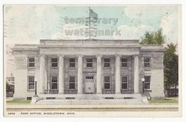 MIDDLETOWN OHIO  POST OFFICE BUILDING FRONT VIEW ~ 1930s vintage postcard - $5.47