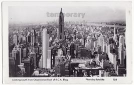 New York City NY View Looking South fm RCA building c1930s MAINZER postc... - $6.39