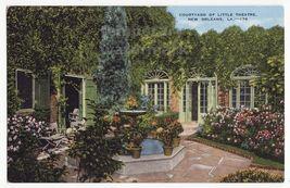 NEW ORLEANS LA   PETIT THEATRE DU VIEUX CARRE COURTYARD ~c1940s postcard - $3.63