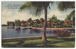 FORT LAUDERDALE FL HENDRICKS ISLAND CITY OF SOUTH SEA ISLANDS 1950s old ... - $5.47