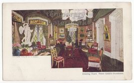 HELEN GOULD's RESIDENCE -DRAWING ROOM- 1904 UDB postcard-CHICAGO SUNDAY ... - $5.47