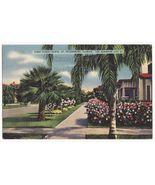 ST PETERSBURG FLORIDA - First Street North - c1939 linen postcard - Stre... - $4.55