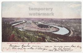 LOOKOUT MOUNTAIN TN  MOCASSIN BEND ~1900s vintage UDB postcard GLITTER D... - $5.06