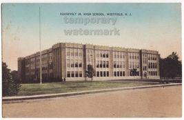 WESTFIELD NJ   ROOSEVELT JR. HIGH SCHOOL~ c1930s vintage postcard ~NEW J... - $9.15