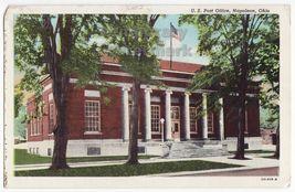 NAPOLEON OHIO  POST OFFICE BUILDING  ~ ca 1920s-1930s vintage postcard - $3.54