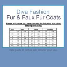 Long Shaggy Hair White Angora Sheep Faux Fur Medium Length Coat Jacket image 3