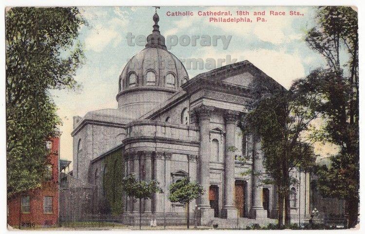 PHILADELPHIA PA ~CATHOLIC CATHEDRAL 18th & RACE STREETS ~1910s vintage postcard - $3.63