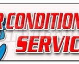 "72"" AIR CONDITIONING SERVICE BANNER SIGN ac cooling technician air cold maint..."