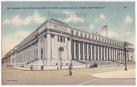 New York City   Post Office Building~8th Ave & 31st Str~C1930s Vintage Postcard - $3.40