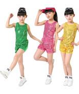 Sequined Hip Hop Dance wear for Girls Children's Jazz Modern Dance Costume - $13.99