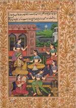 Mughal Miniature Art Handmade Indian Classical Harem Watercolor Folk Pai... - $189.99