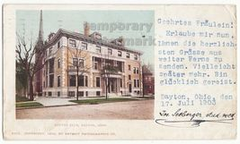 DAYTON CLUB, Dayton Ohio OH 1902 antique UDB postcard - Building - Archi... - $6.39