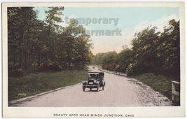 VINTAGE CAR on ROAD~BEAUTY SPOT~MINGO JUNCTION OHIO~c1920s-1930s scenic ... - $7.31