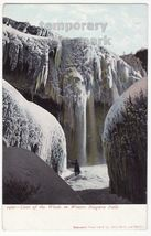 CAVE OF THE WINDS WINTER NIAGARA FALLS NY 1900s postcard Bill Hopkins Co... - $3.63