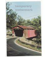 XENIA OH  STEVENSON ROAD COVERED BRIDGE ~GREEN  COUNTY OHIO~c1960s postcard - $4.42