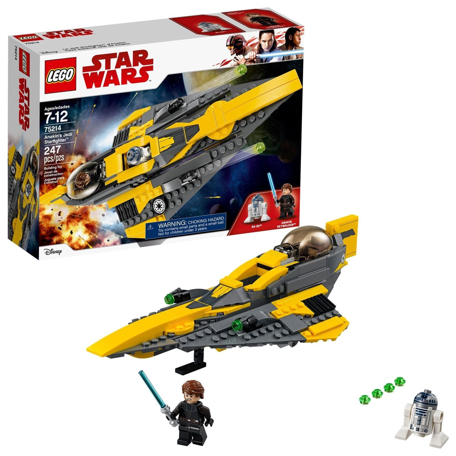 LEGO Star Wars 75214 Anakin's Jedi Starfighter [New] Building Set