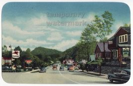 GATLINBURG TN, MAIN STREET ENTRANCE SMOKEY MOUNTAINS NATIONAL PARK ca 19... - $9.15