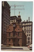 BOSTON MA  OLD STATE HOUSE  ca1950-60s MASSACHUSETTS  postcard~BOSTON BU... - $3.63