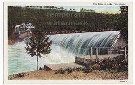 Powersite Dam, Lake Taneycomo MO - Engineering - c1940 vintage Missouri postcard - $4.55