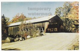 TYPICAL AMERICAN COVERED BRIDGE of the 1880's -KISSING BRIDGE- ca 1960s ... - $3.22