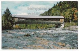 TYPICAL WOODEN COVERED BRIDGE~CREEK~RIVER~SCENIC VIEW~c1950s-60s old pos... - $3.22