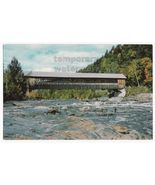 TYPICAL WOODEN COVERED BRIDGE~CREEK~RIVER~SCENIC VIEW~c1950s-60s old postcard - $3.22