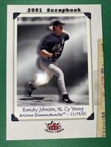 """Randy Johnson 2002 Fleer Triple Crown #250 """"2001 Scrapbook"""" Arizona Diamondbacks - $2.38"""