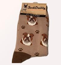 Bulldog Socks Unisex Dog Cotton/Poly One size fits most - $11.99