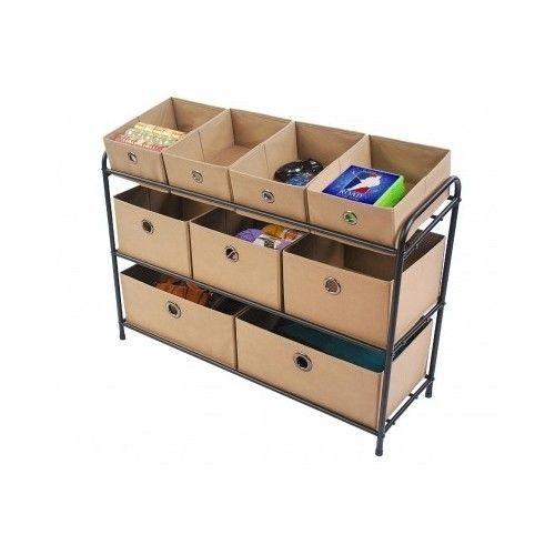 Organizer Storage Multi Bin Rack 3 Tier Shelves Craft Arts Toy Playroom Set Unit