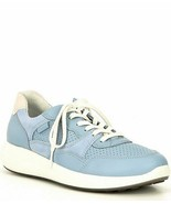 Ecco Dusty Blue Women's Soft 7 Runner Leather Lace-Up Sneaker Size 8-8.... - $74.76