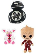 Lot Of 3 Funko Plush - Star Wars, Groot, And Funtime Foxy - $19.99