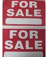 "Advantus 83638 For Sale Sign Preprinted 8"" x 12"" Plastic 2 Signs - $1.19"