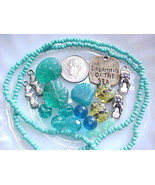 Beach Beads Mix Flip Flop Sea Shell Turquoise Starfish Mermaid Jewelry M... - $6.00