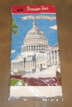 TOWEL U.S. CAPITAL Washington DC Kay Dee Hand Print 100% Cotton Vintage ... - $9.49