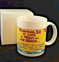 Hallmark turning 30 coffee mug cup 10 oz Ocean seagull Shoebox Greetings  C4B - $14.29