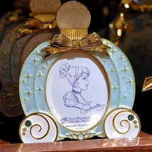 Tokyo Disney Resort Cinderella Mini Photo Stand Pumpkin Carrier Frame Sea FS - $72.27