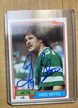 1981 Topps Greg Buttle #285 Autographed Card New York Jets - $16.99