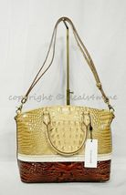 NWT Brahmin Duxbury Leather Satchel/Shoulder Bag in Honeycomb Leroy image 9