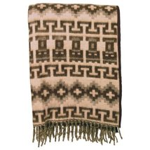Alpaca Blanket Reversible Geometric Two Tone Warm, Soft and Light - $80.24 CAD