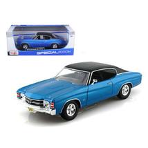 1971 Chevrolet Chevelle SS 454 Blue 1/18 Diecast Model Car by Maisto 318... - $45.29