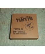 World Market Tintin on Motorcycle 2011 Christmas Tree Glass Ornament NIB - $15.00