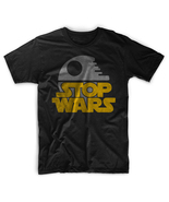 Stop Wars Anti War Parody Men Black T-Shirt Tee - $17.99