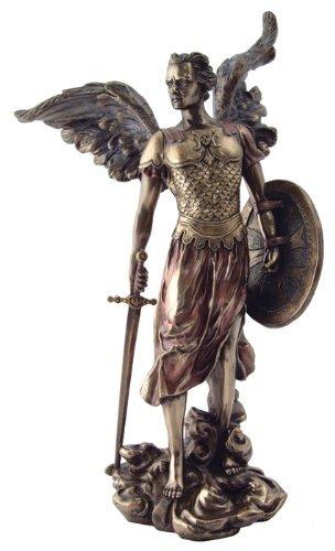 "Top Collection 13.5"" Saint Michael the Roman Archangel Statue in Cold Cast Bronz"