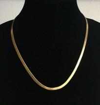 "Vintage Gold Tone MONET Herringbone Chain Necklace 20"" - $12.86"