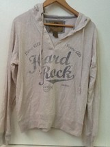 HARD ROCK HOTEL SAN DIEGO Beige HOODIE COTTON Pullover Juniors Fit WOMENS L - $17.95