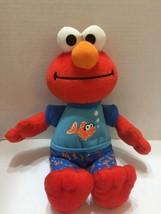 "Elmo Sleepy Time Fish PJs 12"" Plush Musical Talking Toy Sesame Street - $11.29"