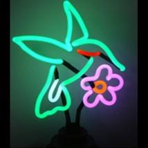 """Neon Hummingbird Sculpture Sign Wall Decor  14"""" x 11"""" - $89.99"""