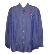 Texas Rangers Long Sleeve Button Shirt Mens XL MLB Baseball - $24.42