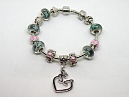 Browning Buck European Murano Beaded Bangle Bracelet. Gift bag included - $19.95